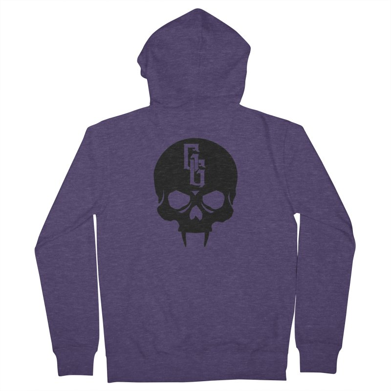 Gehenna Gaming Skull Logo (No Text) Men's French Terry Zip-Up Hoody by GehennaGaming's Artist Shop