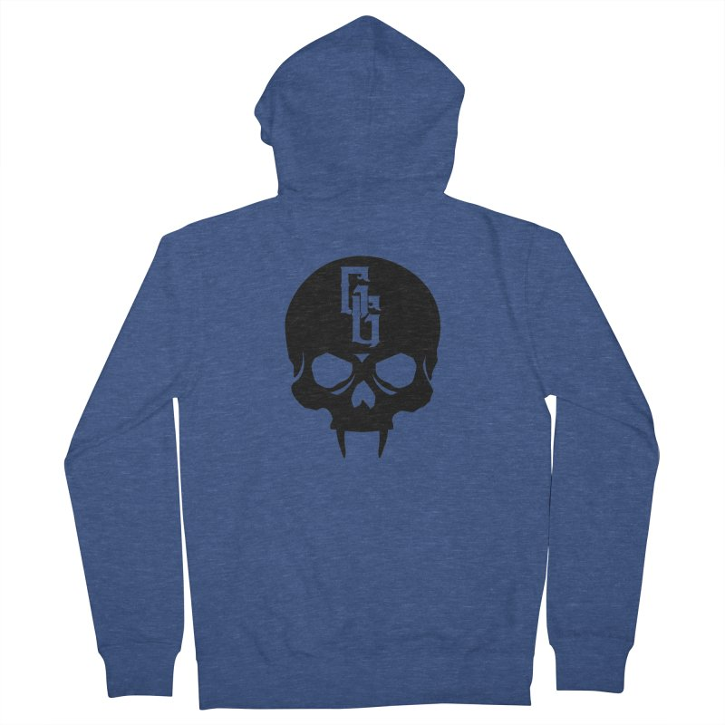 Gehenna Gaming Skull Logo (No Text) Men's French Terry Zip-Up Hoody by The Gehenna Gaming Shop