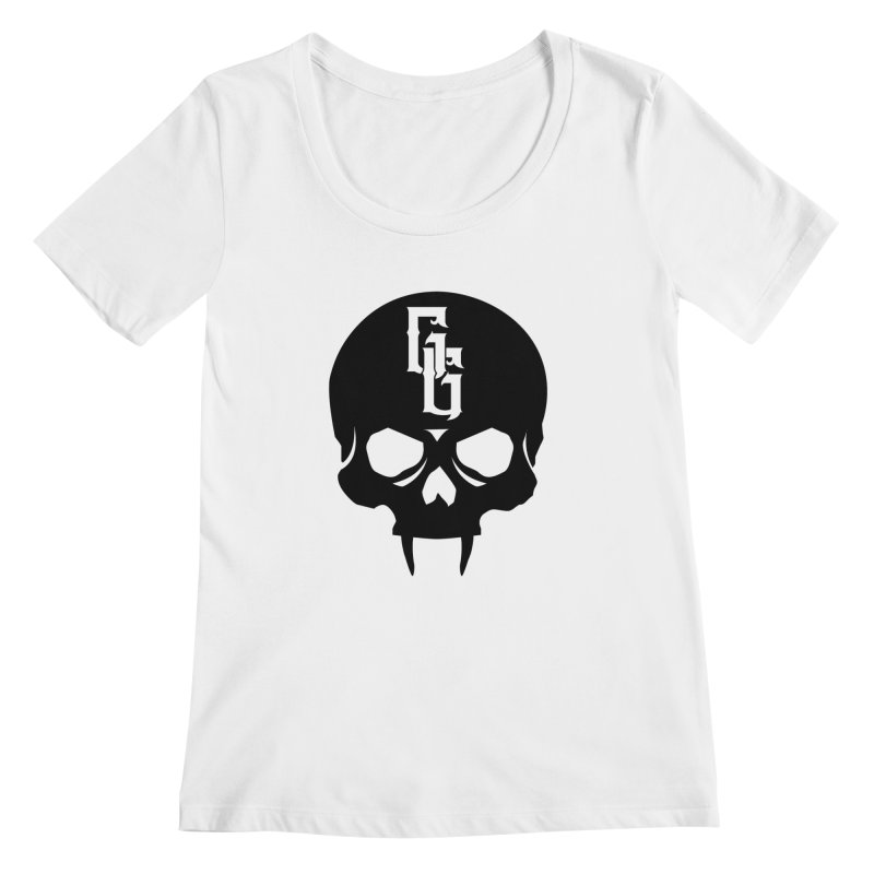 Gehenna Gaming Skull Logo (No Text) Women's Regular Scoop Neck by GehennaGaming's Artist Shop