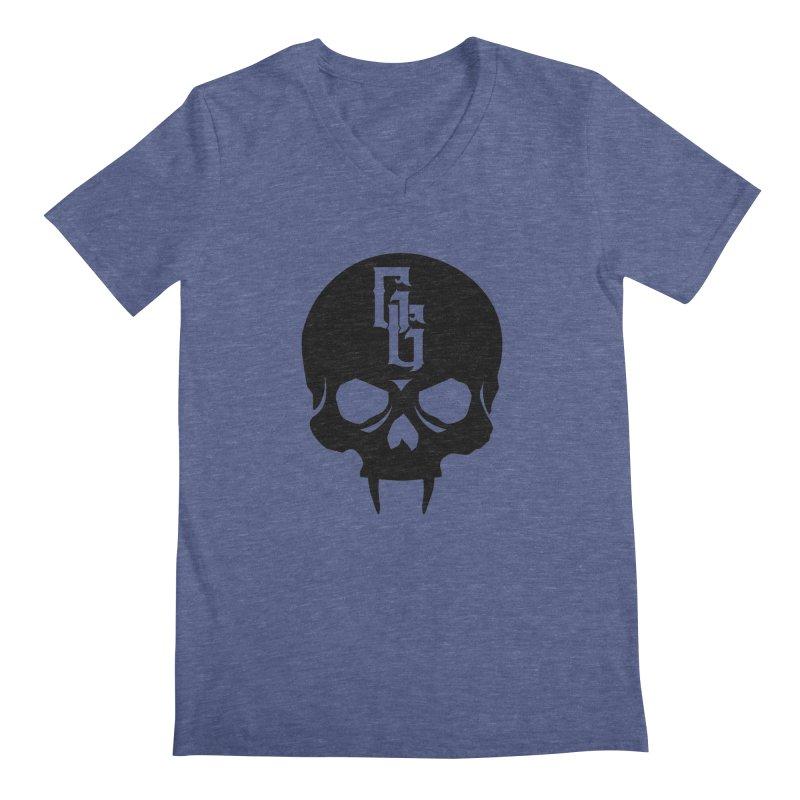 Gehenna Gaming Skull Logo (No Text) Men's Regular V-Neck by GehennaGaming's Artist Shop