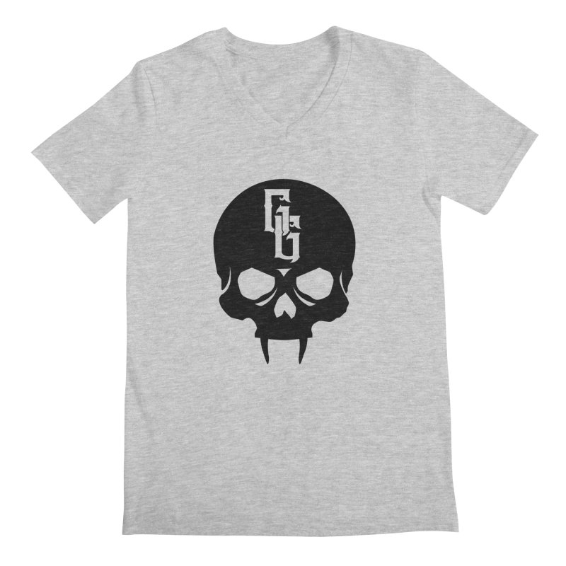 Gehenna Gaming Skull Logo (No Text) Men's Regular V-Neck by The Gehenna Gaming Shop