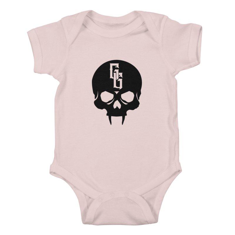 Gehenna Gaming Skull Logo (No Text) Kids Baby Bodysuit by The Gehenna Gaming Shop
