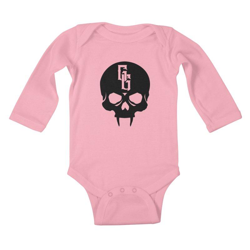 Gehenna Gaming Skull Logo (No Text) Kids Baby Longsleeve Bodysuit by GehennaGaming's Artist Shop