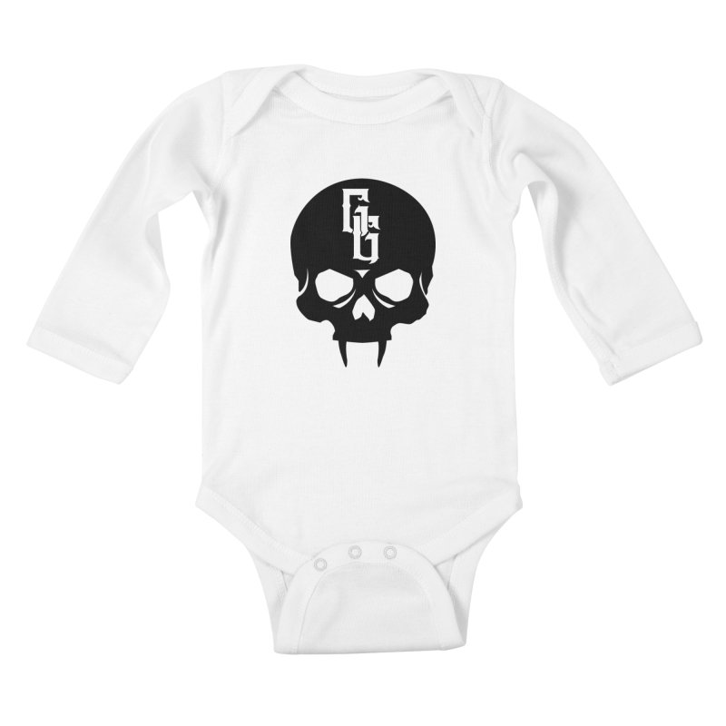 Gehenna Gaming Skull Logo (No Text) Kids Baby Longsleeve Bodysuit by The Gehenna Gaming Shop
