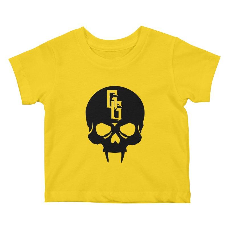 Gehenna Gaming Skull Logo (No Text) Kids Baby T-Shirt by The Gehenna Gaming Shop