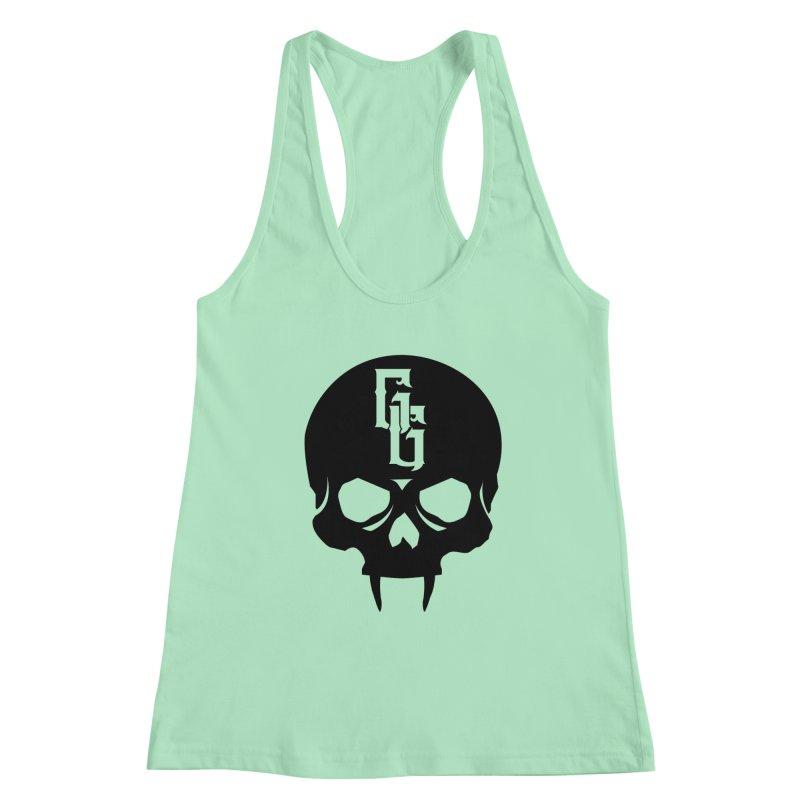Gehenna Gaming Skull Logo (No Text) Women's Racerback Tank by The Gehenna Gaming Shop