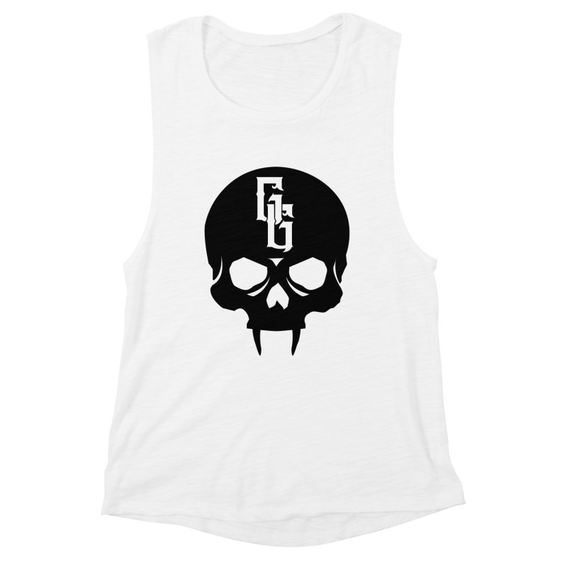 Gehenna Gaming Skull Logo (No Text) Women's Muscle Tank by The Gehenna Gaming Shop