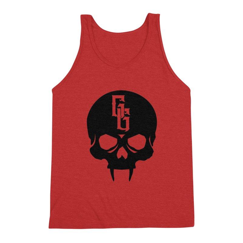 Gehenna Gaming Skull Logo (No Text) Men's Triblend Tank by The Gehenna Gaming Shop