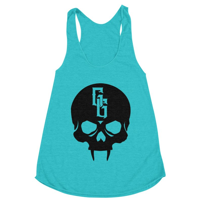 Gehenna Gaming Skull Logo (No Text) Women's Racerback Triblend Tank by The Gehenna Gaming Shop