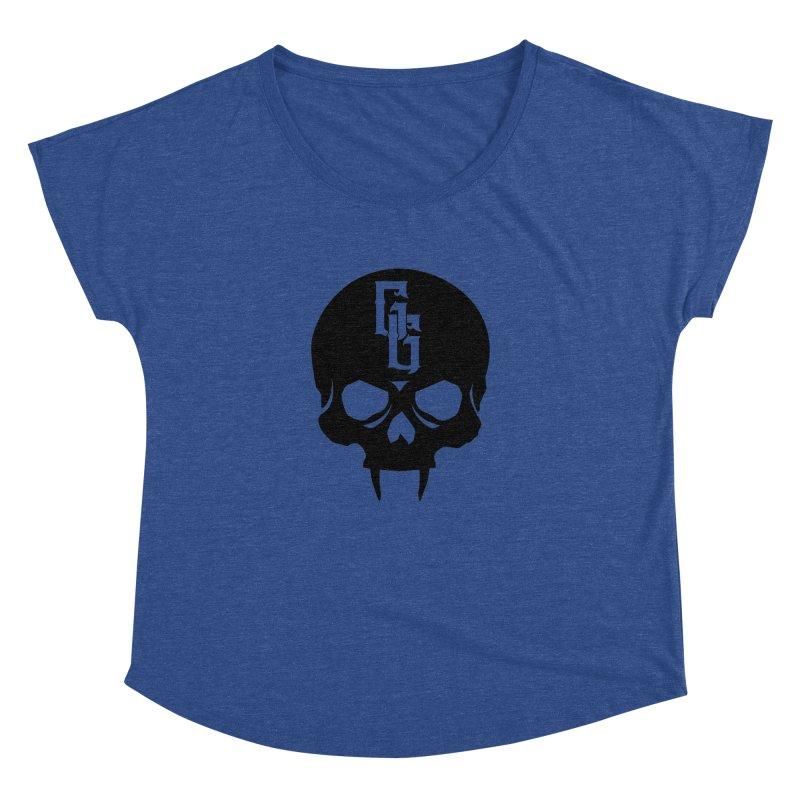 Gehenna Gaming Skull Logo (No Text) Women's Dolman Scoop Neck by GehennaGaming's Artist Shop
