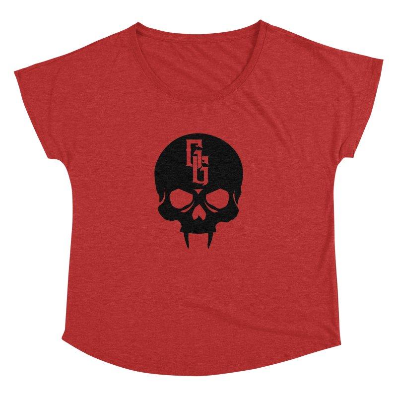 Gehenna Gaming Skull Logo (No Text) Women's Dolman Scoop Neck by The Gehenna Gaming Shop
