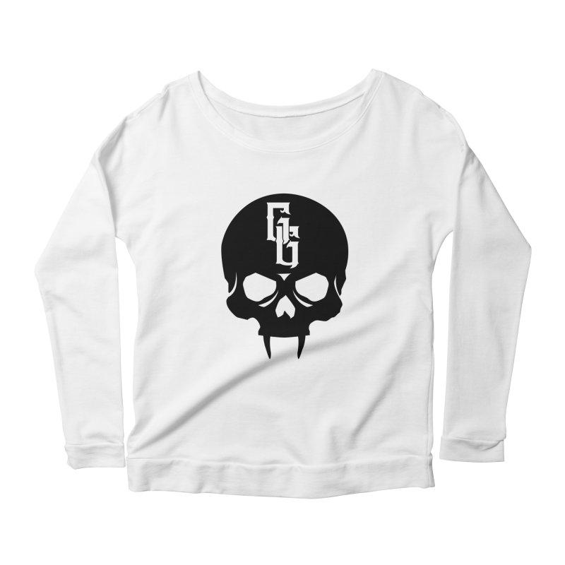 Gehenna Gaming Skull Logo (No Text) Women's Scoop Neck Longsleeve T-Shirt by GehennaGaming's Artist Shop