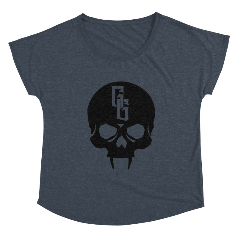 Gehenna Gaming Skull Logo (No Text) Women's Dolman Scoop Neck by The Gehenna Gaming Shop