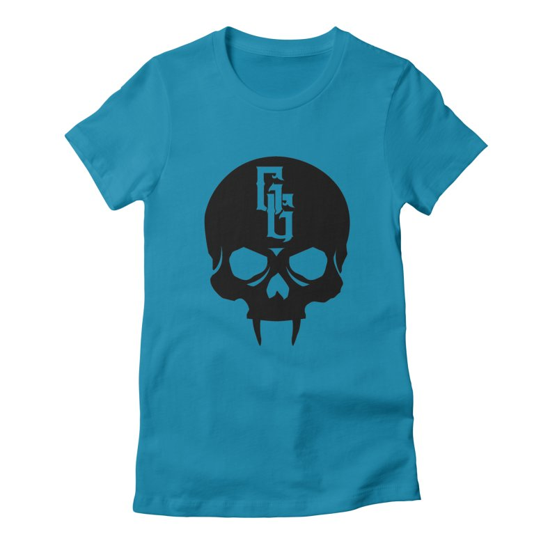 Gehenna Gaming Skull Logo (No Text) Women's Fitted T-Shirt by The Gehenna Gaming Shop