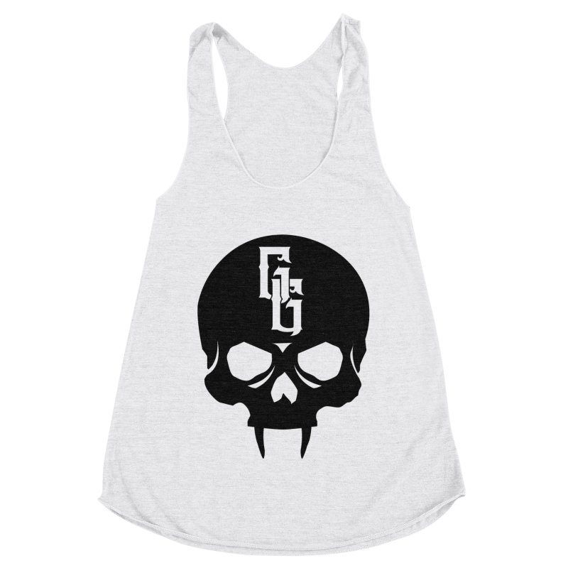 Gehenna Gaming Skull Logo (No Text) Women's Racerback Triblend Tank by GehennaGaming's Artist Shop