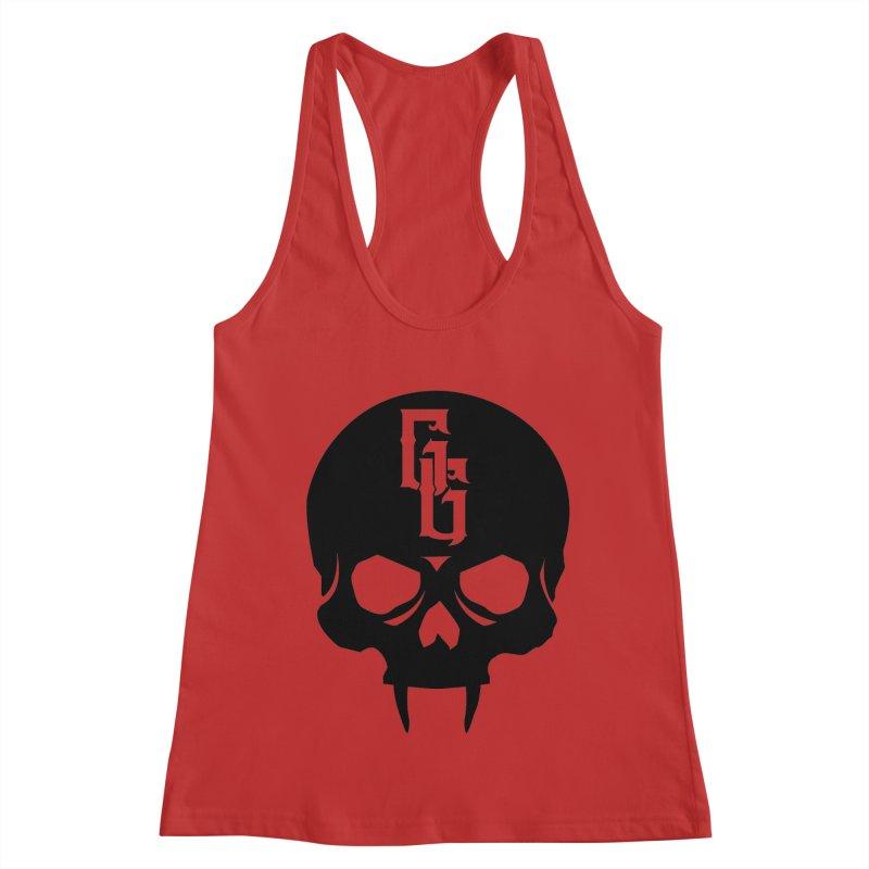 Gehenna Gaming Skull Logo (No Text) Women's Racerback Tank by GehennaGaming's Artist Shop
