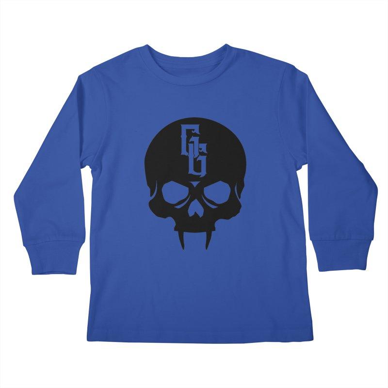Gehenna Gaming Skull Logo (No Text) Kids Longsleeve T-Shirt by GehennaGaming's Artist Shop