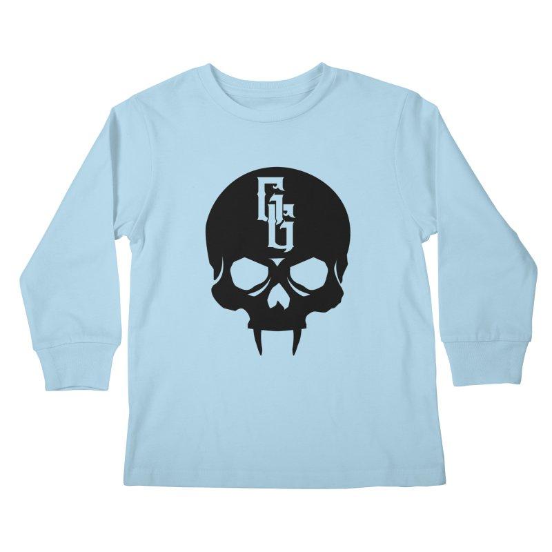 Gehenna Gaming Skull Logo (No Text) Kids Longsleeve T-Shirt by The Gehenna Gaming Shop