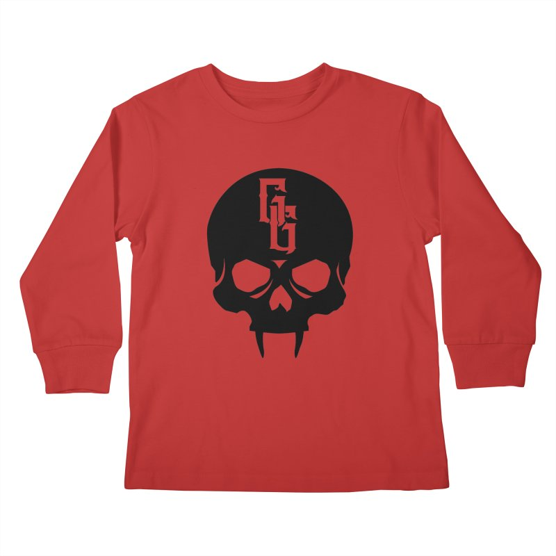 Gehenna Gaming Skull Logo (No Text) Kids Longsleeve T-Shirt by GehennaGaming's Artist Shop