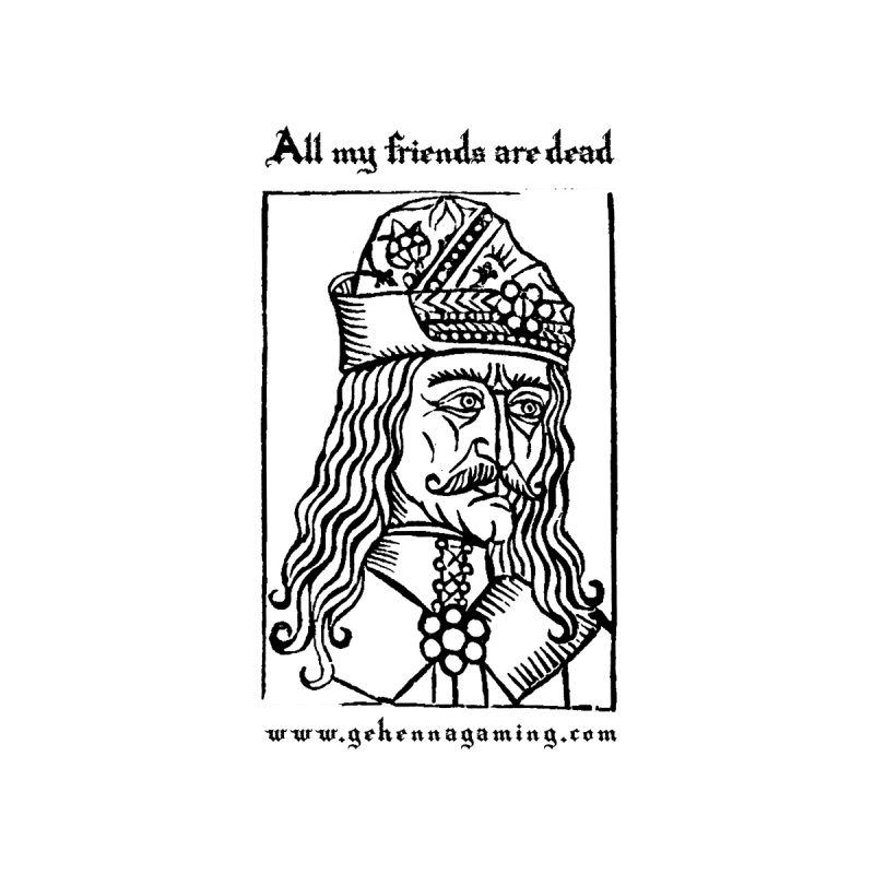 All My Friends Are Dead Accessories Sticker by The Gehenna Gaming Shop
