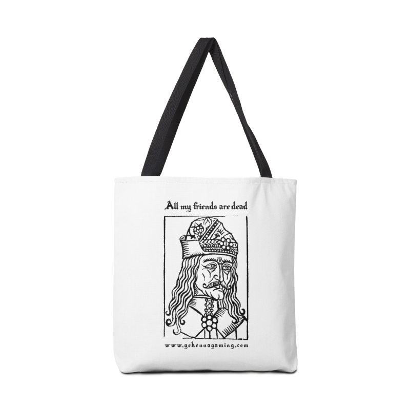 All My Friends Are Dead Accessories Tote Bag Bag by GehennaGaming's Artist Shop