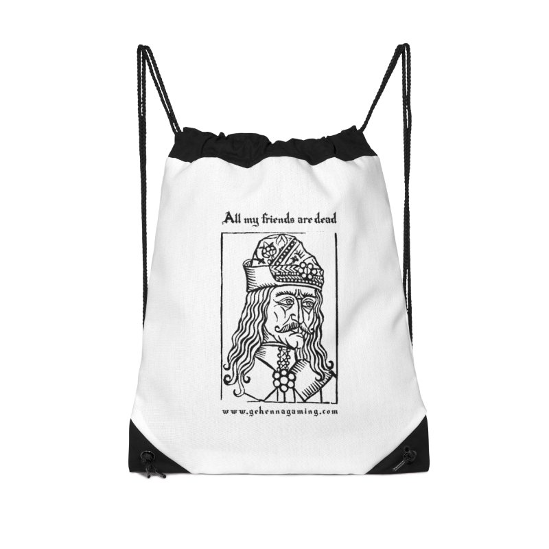 All My Friends Are Dead Accessories Drawstring Bag Bag by The Gehenna Gaming Shop