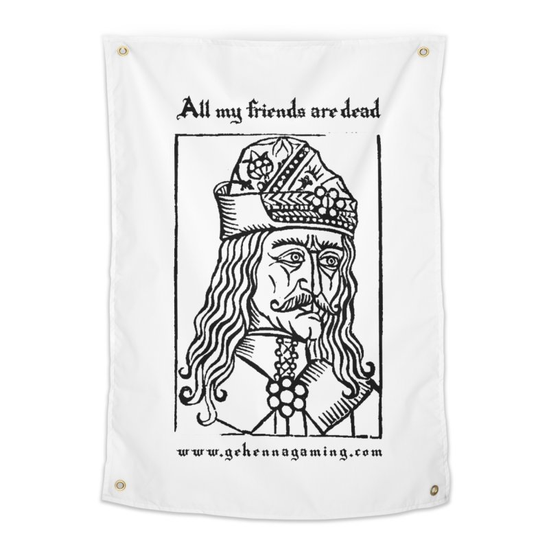 All My Friends Are Dead Home Tapestry by The Gehenna Gaming Shop