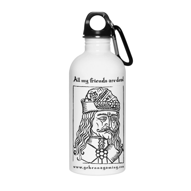 All My Friends Are Dead Accessories Water Bottle by GehennaGaming's Artist Shop