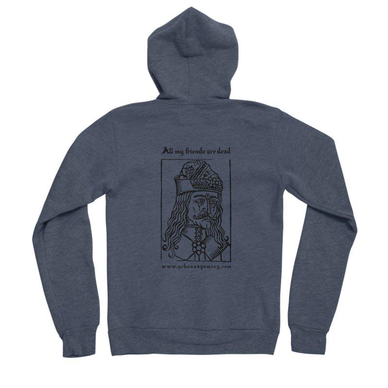 All My Friends Are Dead Men's Sponge Fleece Zip-Up Hoody by GehennaGaming's Artist Shop