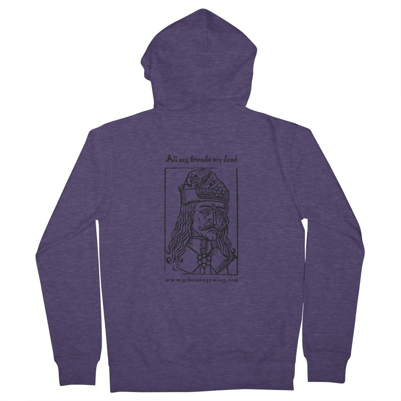 All My Friends Are Dead Men's French Terry Zip-Up Hoody by The Gehenna Gaming Shop