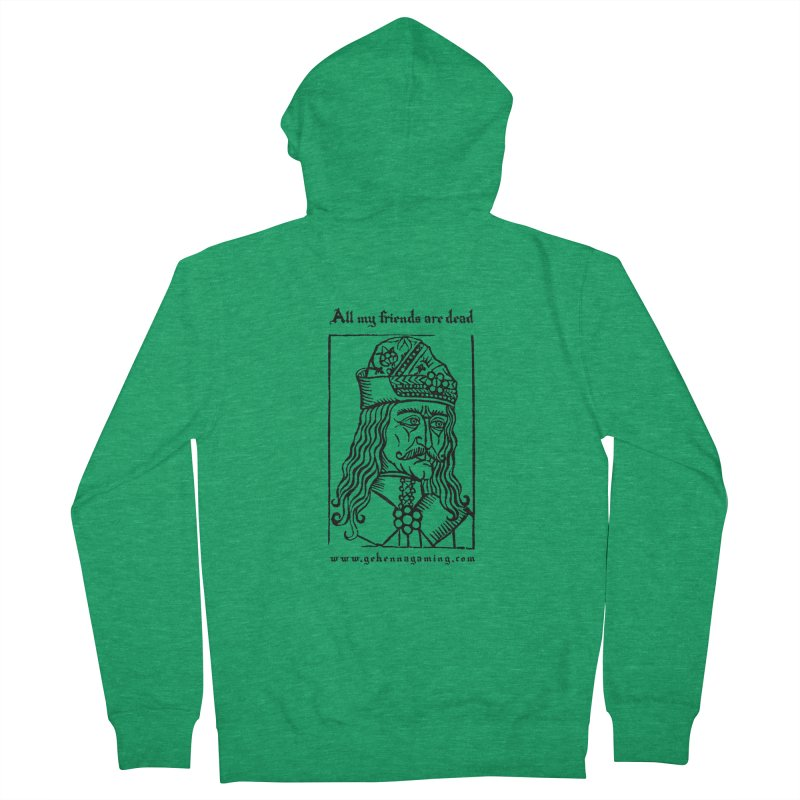 All My Friends Are Dead Men's Zip-Up Hoody by The Gehenna Gaming Shop