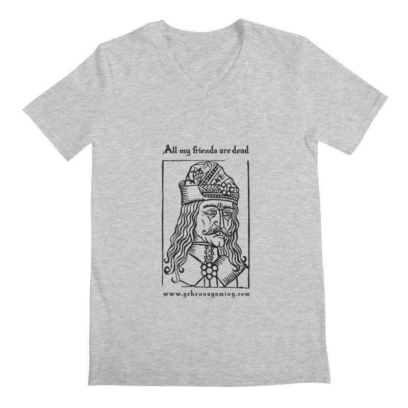All My Friends Are Dead Men's Regular V-Neck by GehennaGaming's Artist Shop