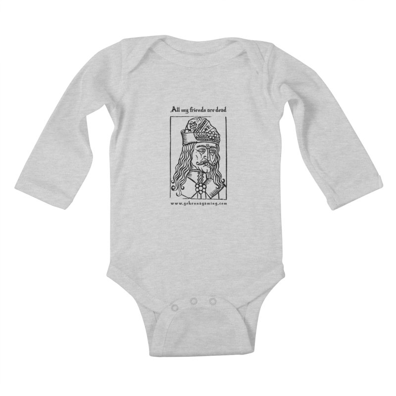 All My Friends Are Dead Kids Baby Longsleeve Bodysuit by GehennaGaming's Artist Shop
