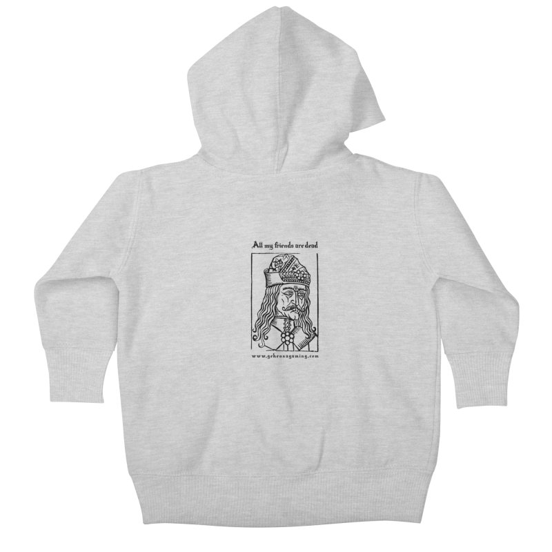 All My Friends Are Dead Kids Baby Zip-Up Hoody by GehennaGaming's Artist Shop
