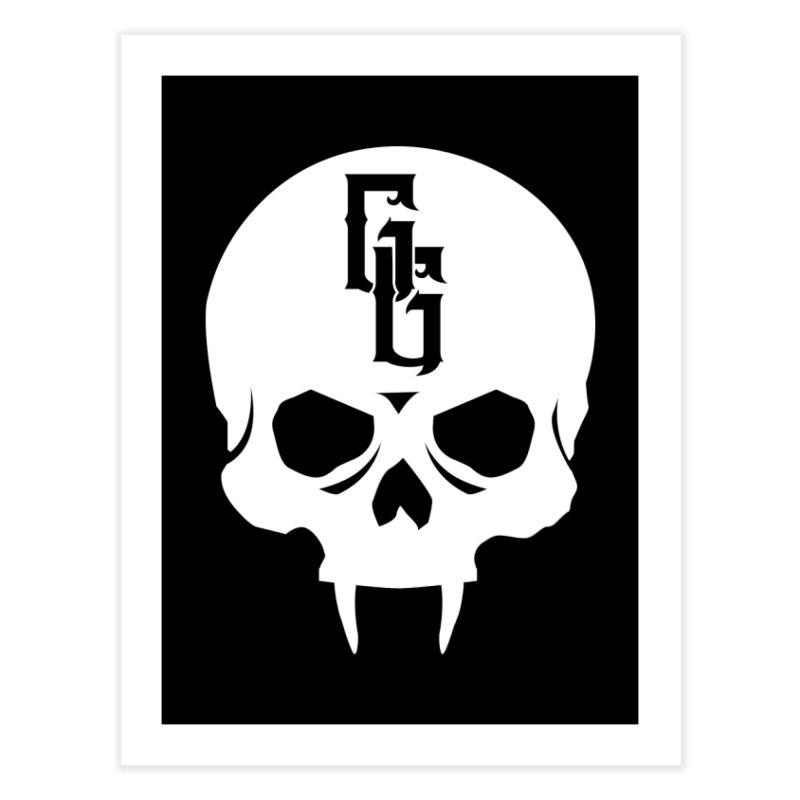 Gehenna Gaming Skull Logo (No Text - Goth Version) Home Fine Art Print by GehennaGaming's Artist Shop
