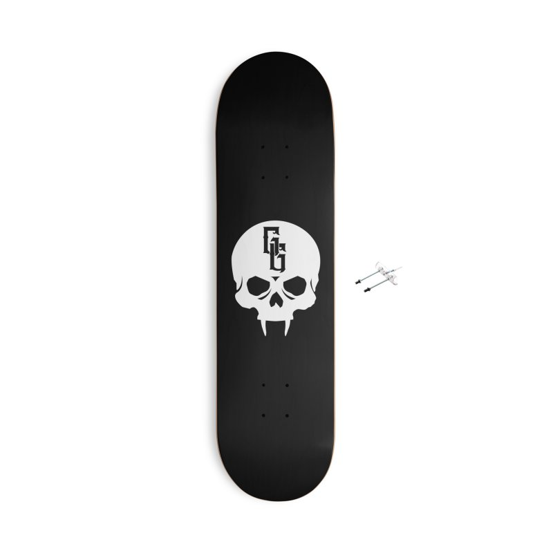 Gehenna Gaming Skull Logo (No Text - Goth Version) Accessories With Hanging Hardware Skateboard by GehennaGaming's Artist Shop