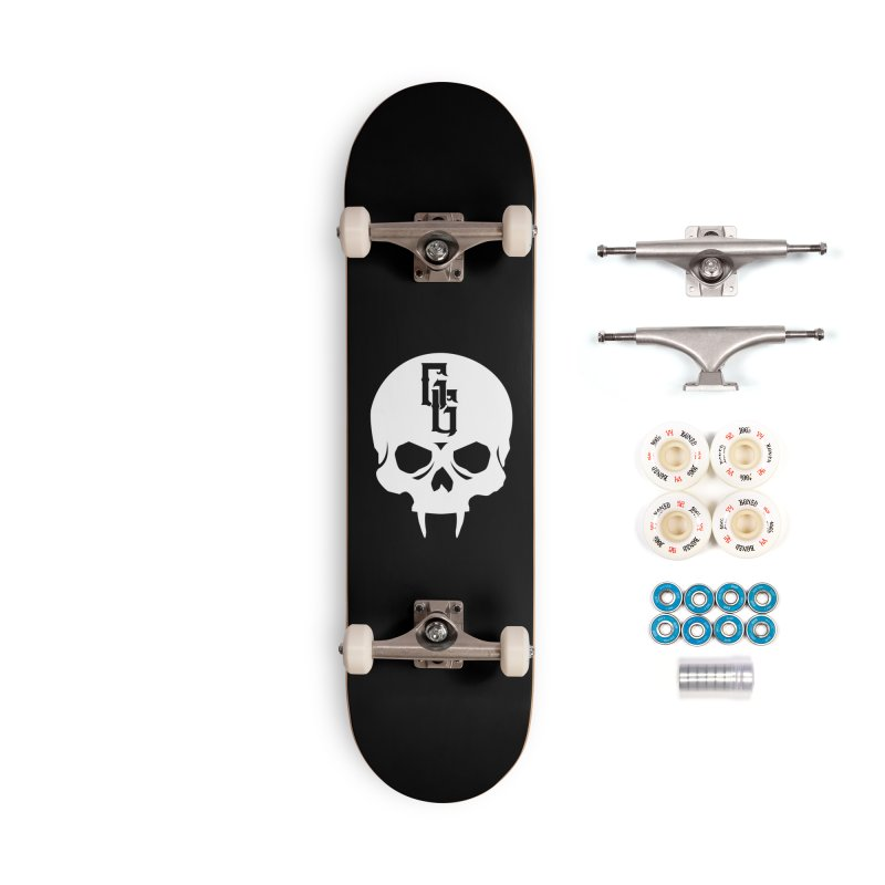 Gehenna Gaming Skull Logo (No Text - Goth Version) Accessories Complete - Premium Skateboard by The Gehenna Gaming Shop