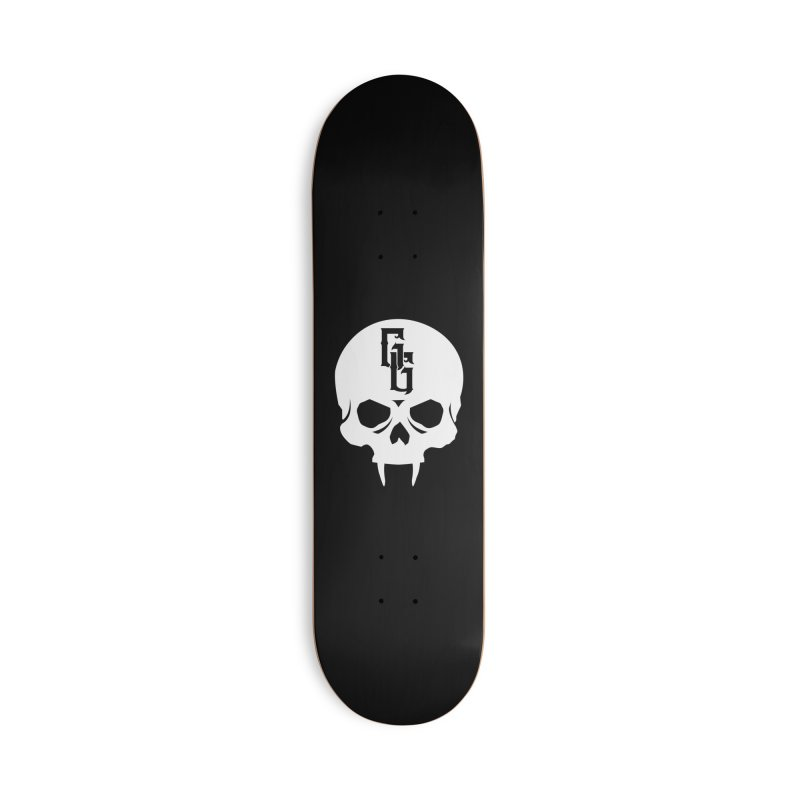 Gehenna Gaming Skull Logo (No Text - Goth Version) Accessories Deck Only Skateboard by The Gehenna Gaming Shop