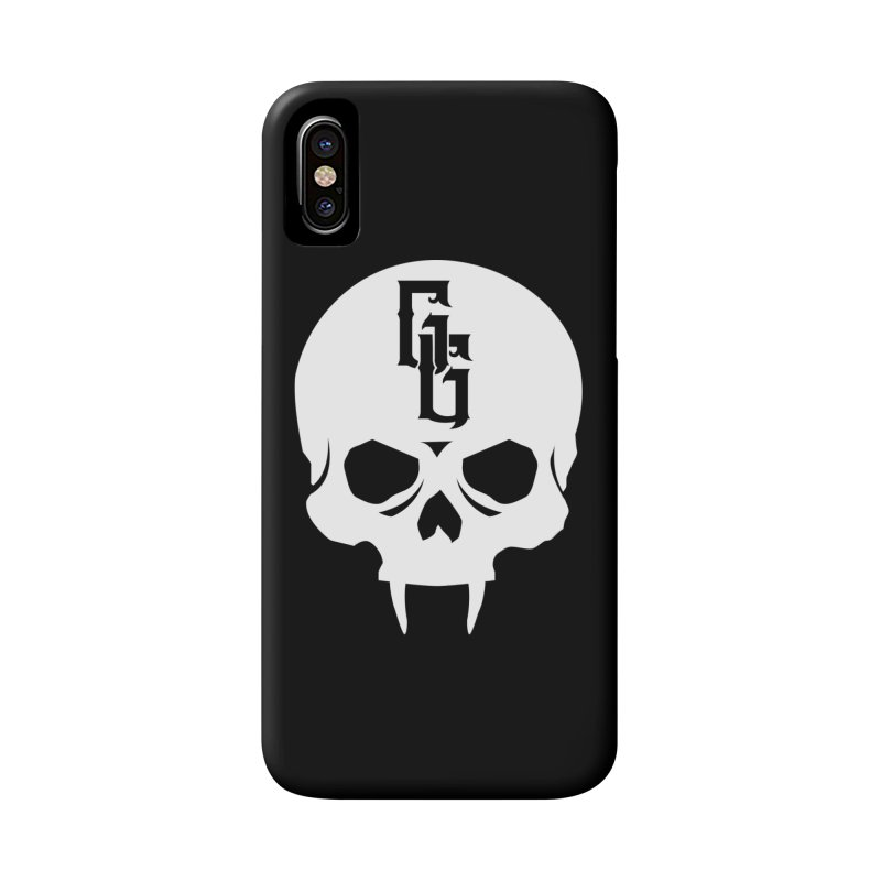 Gehenna Gaming Skull Logo (No Text - Goth Version) Accessories Phone Case by GehennaGaming's Artist Shop