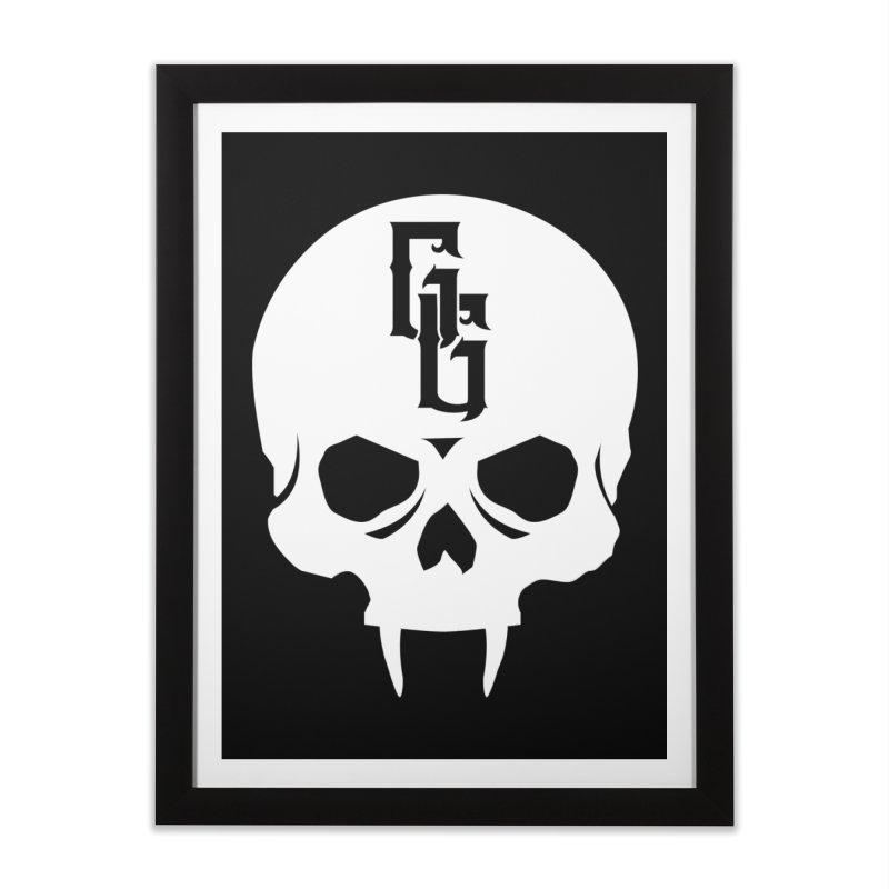 Gehenna Gaming Skull Logo (No Text - Goth Version) Home Framed Fine Art Print by The Gehenna Gaming Shop