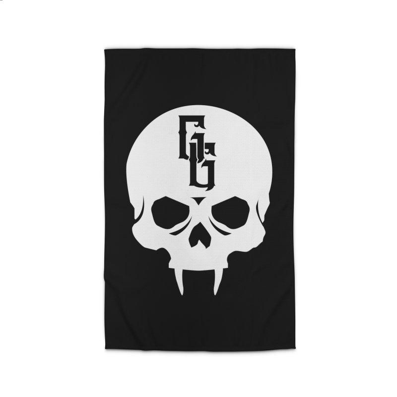 Gehenna Gaming Skull Logo (No Text - Goth Version) Home Rug by The Gehenna Gaming Shop