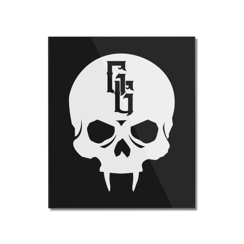 Gehenna Gaming Skull Logo (No Text - Goth Version) Home Mounted Acrylic Print by GehennaGaming's Artist Shop