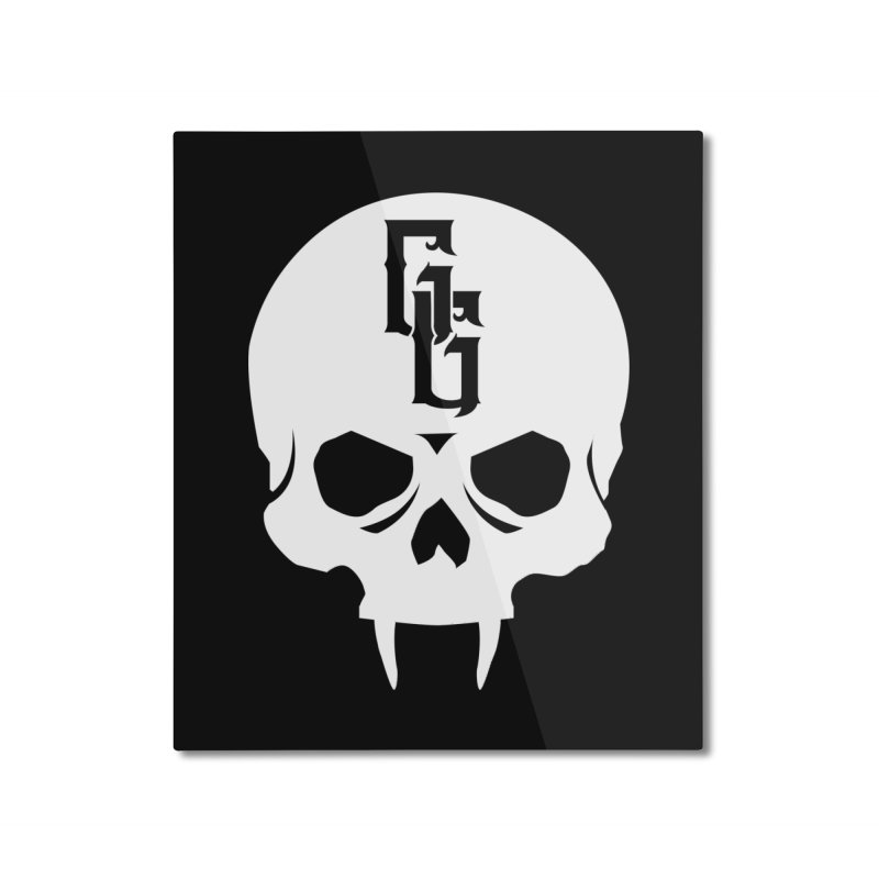 Gehenna Gaming Skull Logo (No Text - Goth Version) Home Mounted Aluminum Print by The Gehenna Gaming Shop