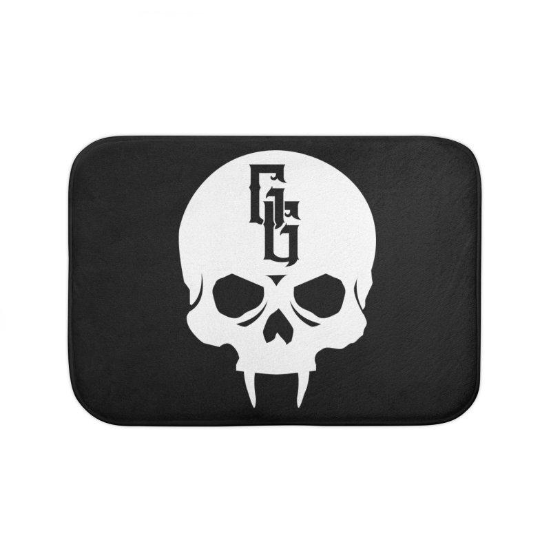 Gehenna Gaming Skull Logo (No Text - Goth Version) Home Bath Mat by The Gehenna Gaming Shop