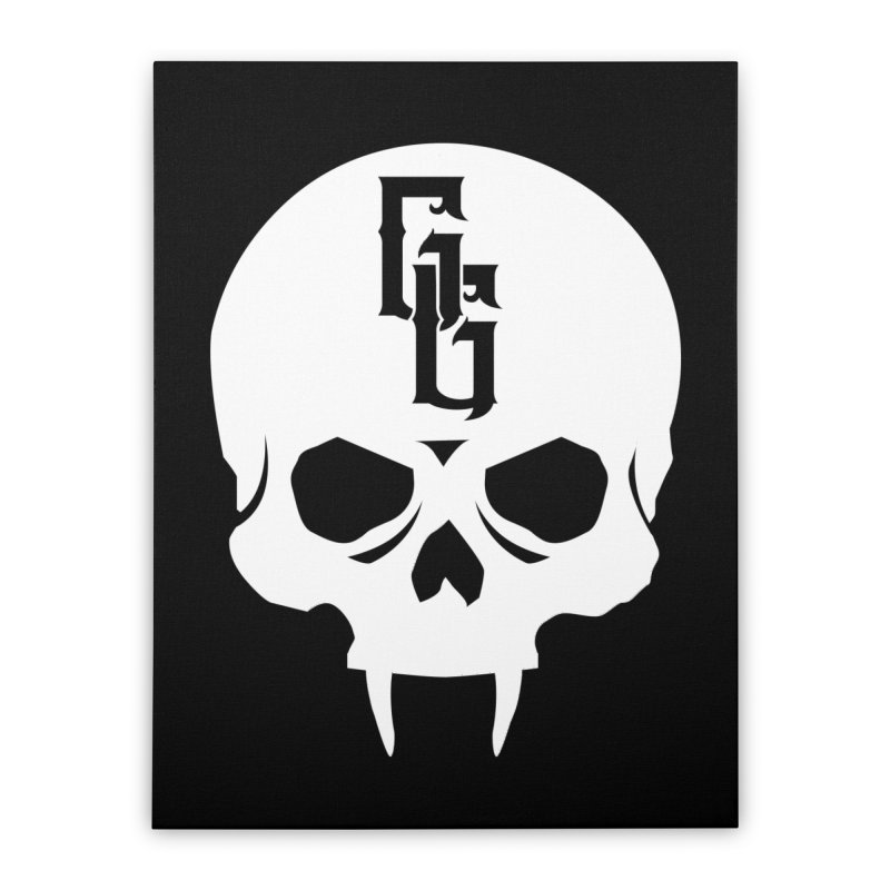 Gehenna Gaming Skull Logo (No Text - Goth Version) Home Stretched Canvas by The Gehenna Gaming Shop