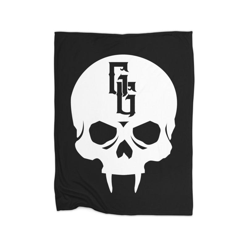 Gehenna Gaming Skull Logo (No Text - Goth Version) Home Fleece Blanket Blanket by GehennaGaming's Artist Shop