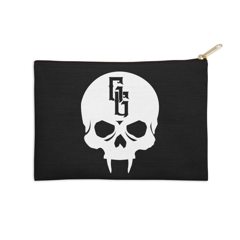 Gehenna Gaming Skull Logo (No Text - Goth Version) Accessories Zip Pouch by The Gehenna Gaming Shop