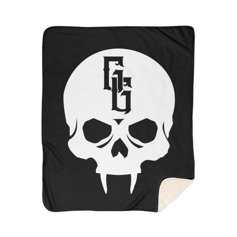 Gehenna Gaming Skull Logo (No Text - Goth Version) Home Sherpa Blanket Blanket by The Gehenna Gaming Shop