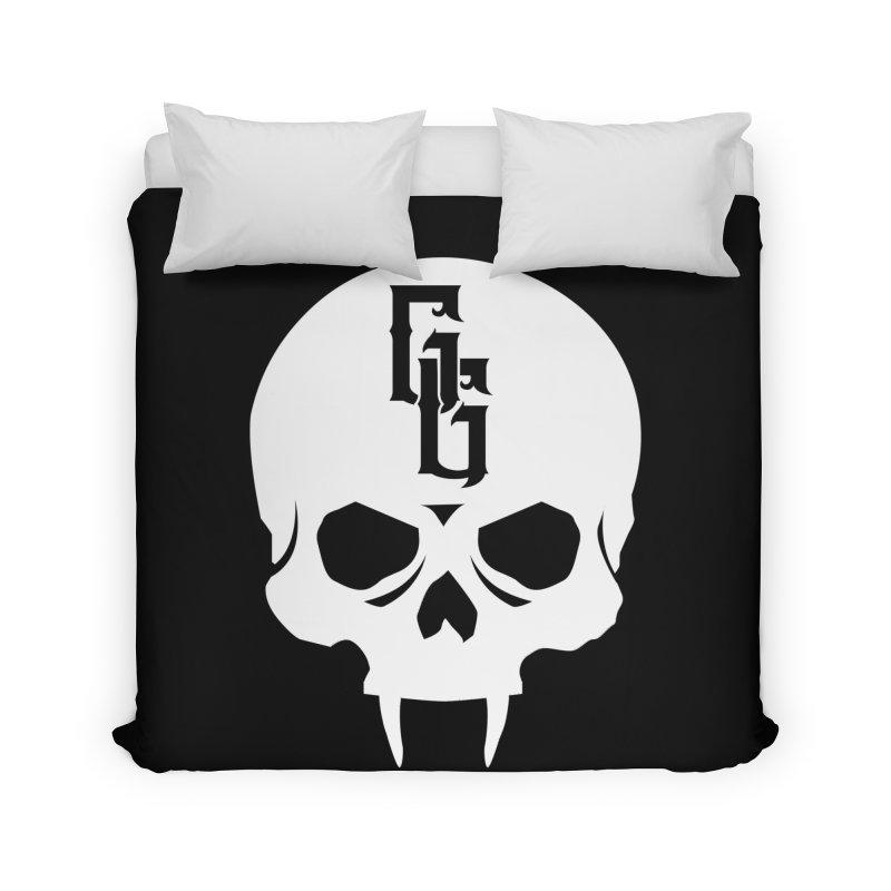 Gehenna Gaming Skull Logo (No Text - Goth Version) Home Duvet by GehennaGaming's Artist Shop