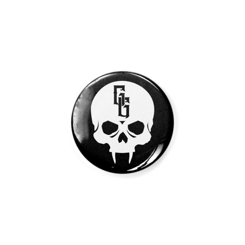 Gehenna Gaming Skull Logo (No Text - Goth Version) Accessories Button by GehennaGaming's Artist Shop